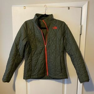 The North Face green Quilted jacket